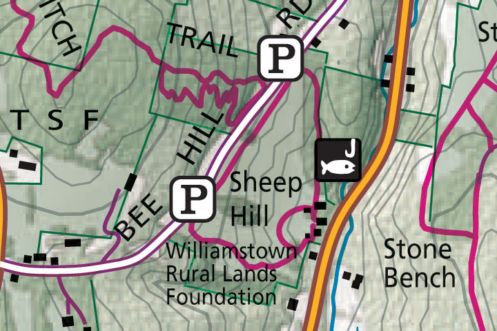Map of Sheep Hill Trails